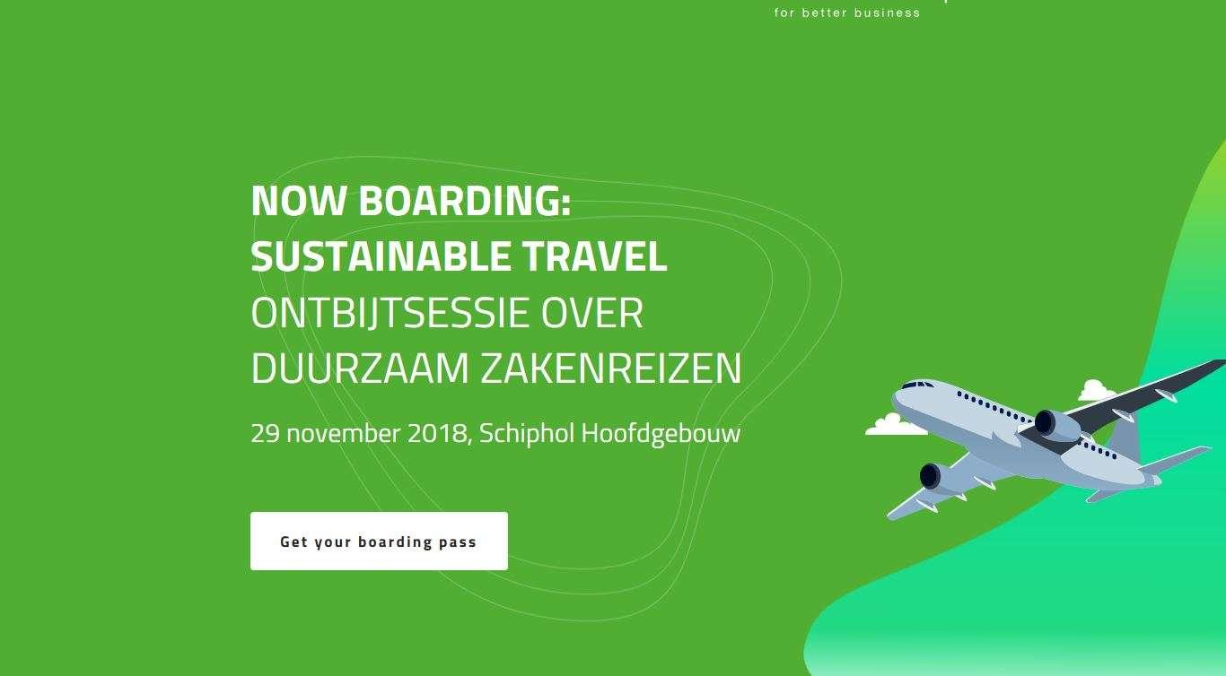 Ontbijtsessie over duurzaam zakenreizen