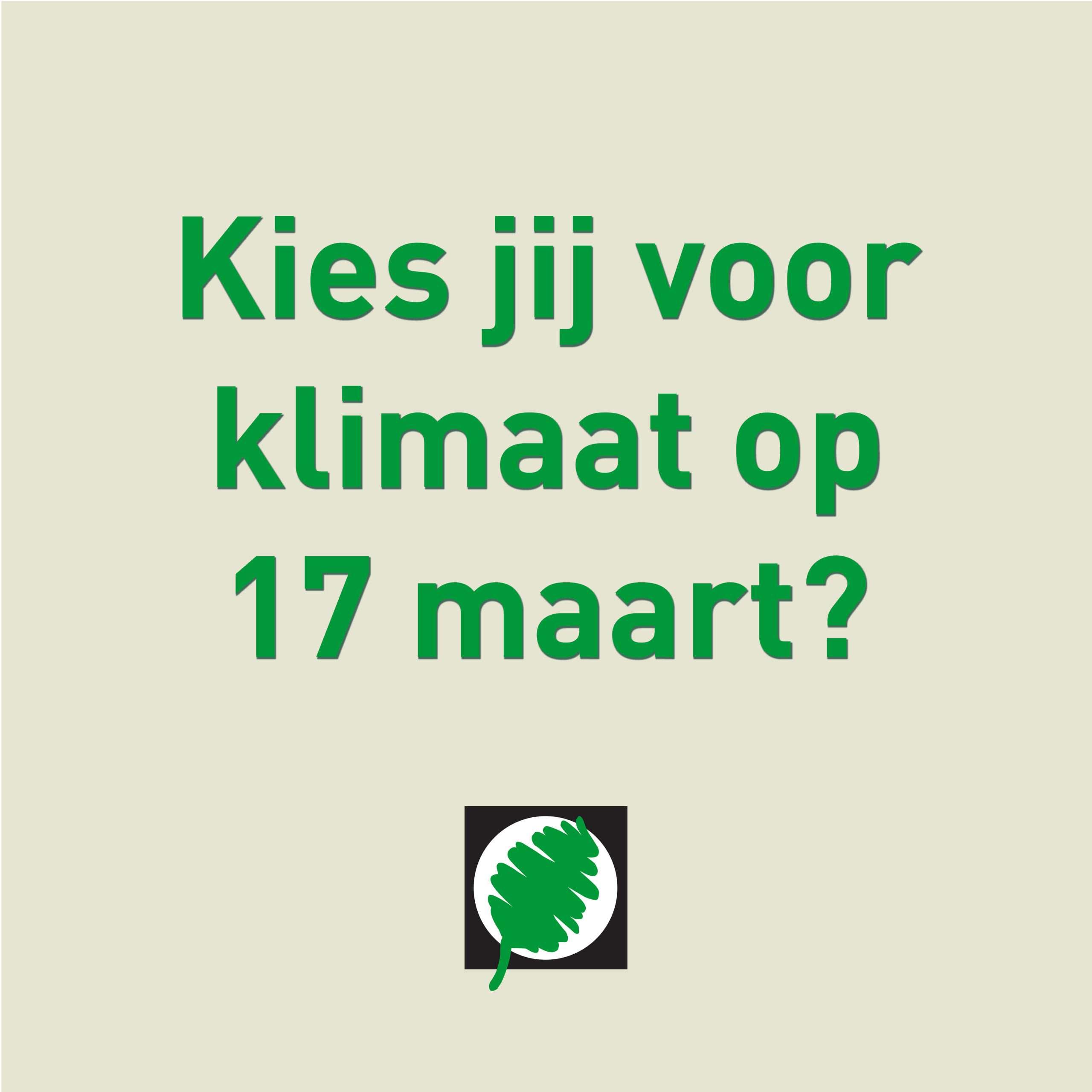 Jongeren én ouderen roepen op: Kies voor Klimaat!